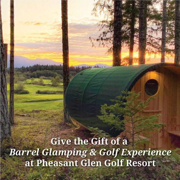 Give the Gift of a Barrel Glamping & Golf Experience at Pheasant Glen Golf Resort