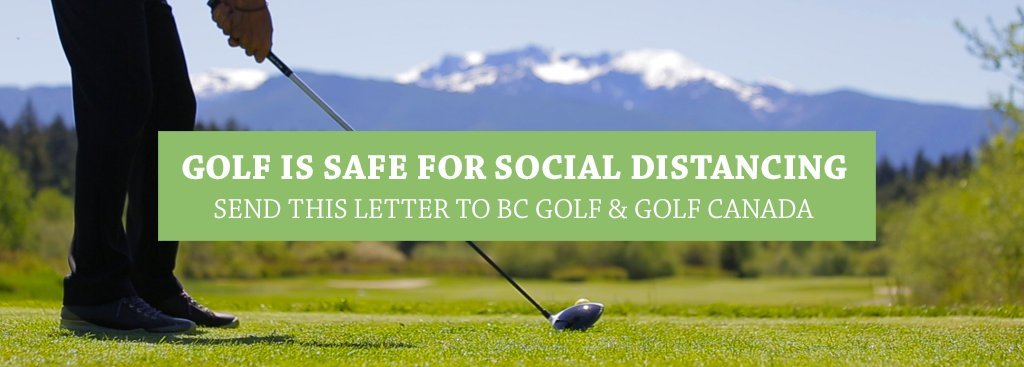 Letter to BC Golf and Golf Canada