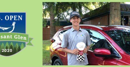 2020 Pheasant Glen Open Tournament Winner, Gavin Knight